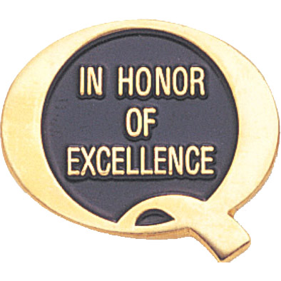In Honor of Excellence Recognition Pin