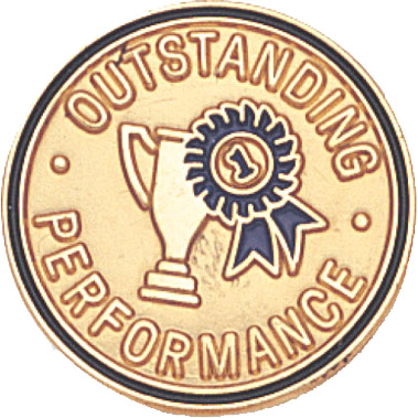 Outstanding Performance Recognition Pin