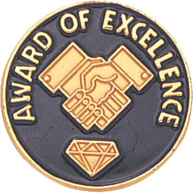 Award of Excellence Recognition Pin