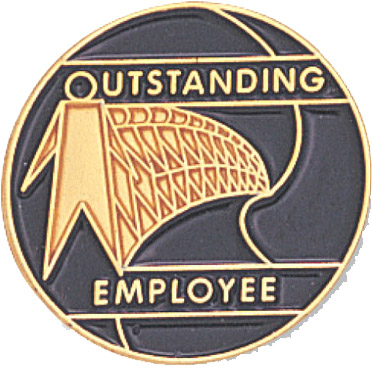 Outstanding Employee Recognition Pin