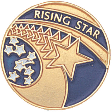 Rising Star Recognition Pin