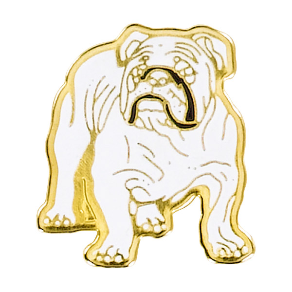 Bull Dog Mascot Pin