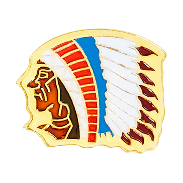 Indian Chief Mascot Pin