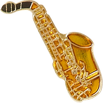 Saxophone Recognition Pin