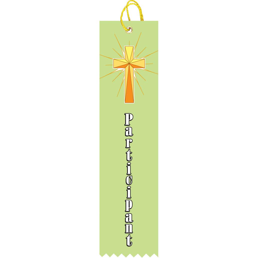 "2"" x 8"" Religious Participant Ribbon"