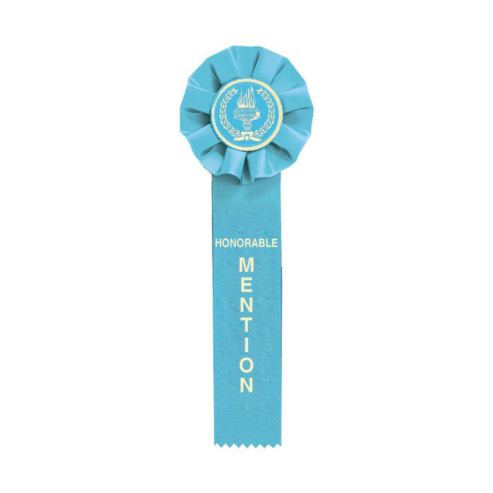 Light Blue Honorable Mention Ribbon
