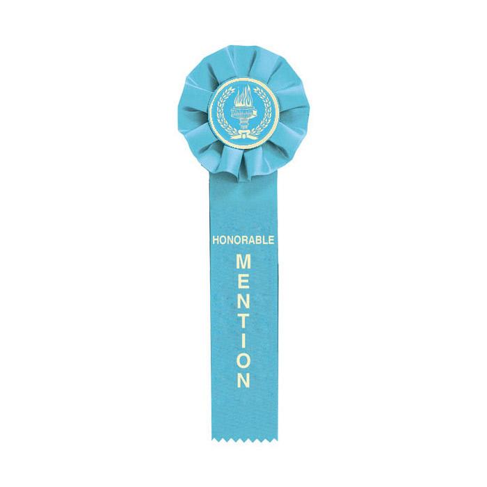 Light Blue Honorable Mention Ribbon