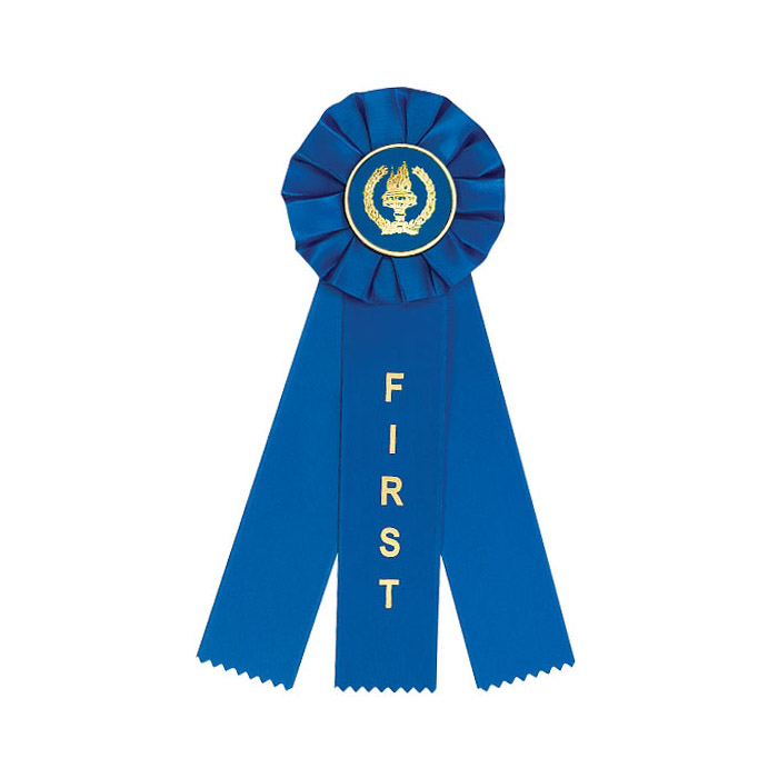 Blue First Place 3 Streamer Ribbon