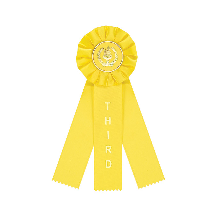 Yellow 3 Streamer Ribbon