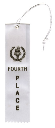 White 4th Place Ribbon