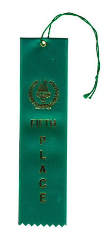 Green 5th Place Ribbon