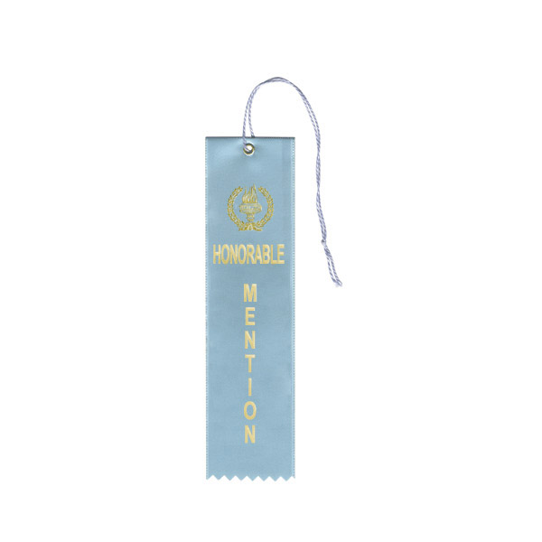 Light Blue Honorable Mention Ribbons
