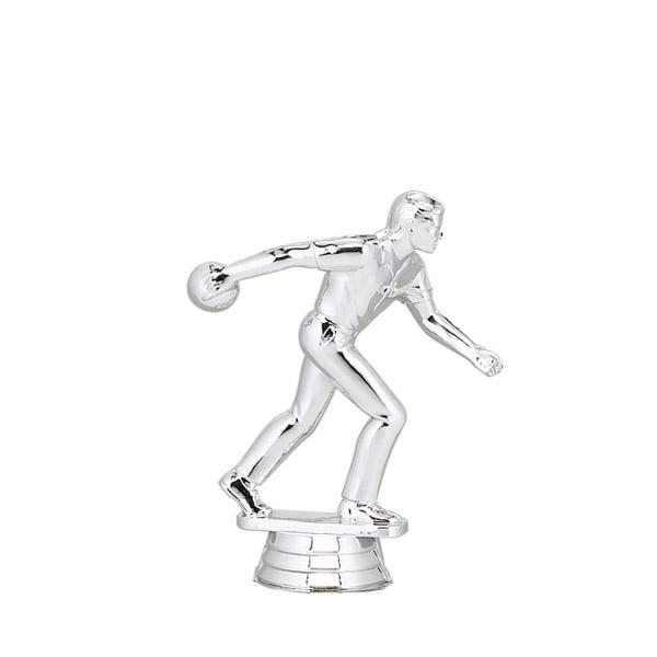 Ten Pin Bowler Male Silver Trophy Figure