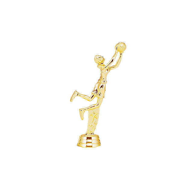 Female All Star Basketball Gold Trophy Figure