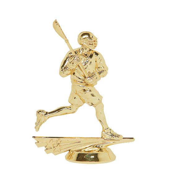 Male All Star Lacrosse Gold Trophy Figure