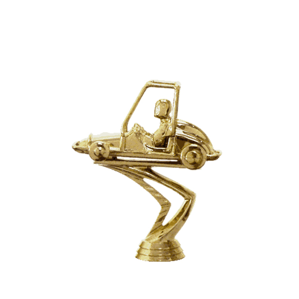 Quarter Midget Gold Trophy Figure