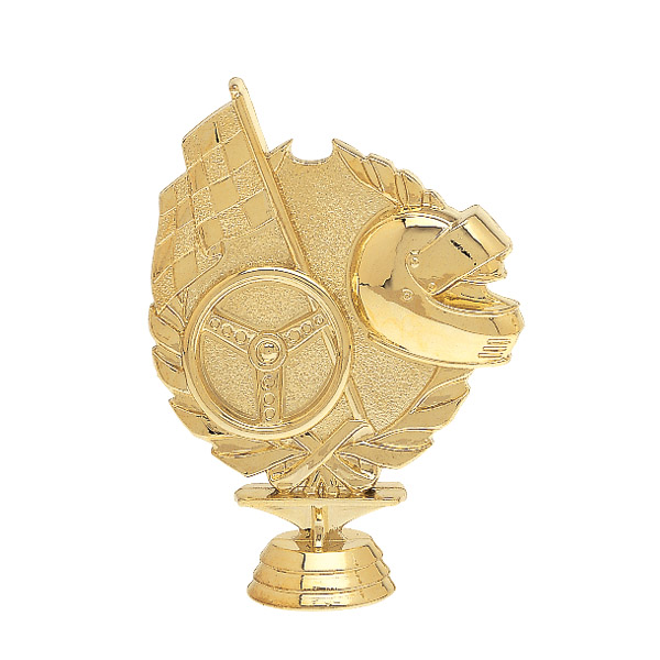 3d Racing Gold Trophy Figure