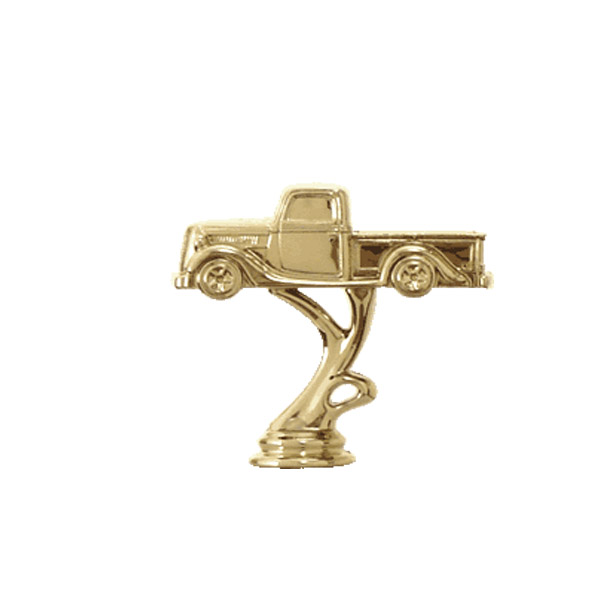 Antique Pick Up Truck Gold Trophy Figure