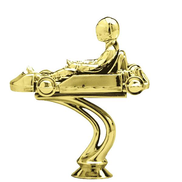 Go-Kart Gold Trophy Figure
