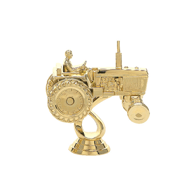 Tractor w/ Out Cab Gold Trophy Figure