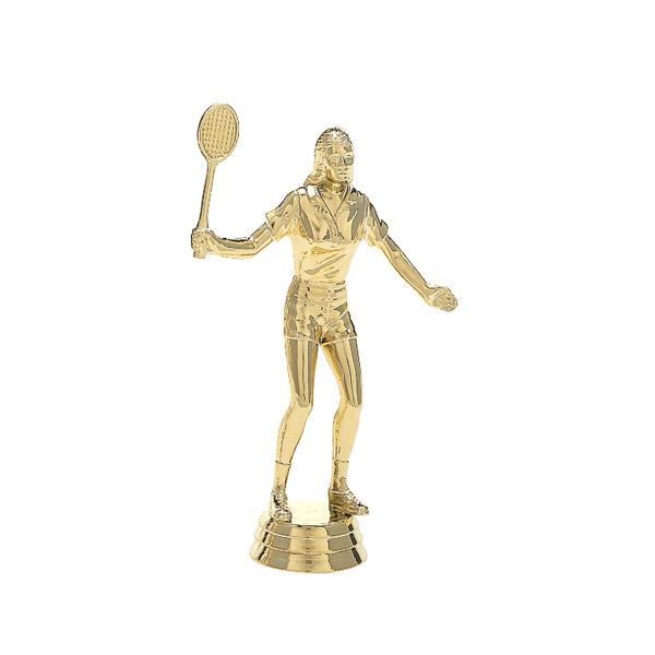 Female Badminton Gold Trophy Figure