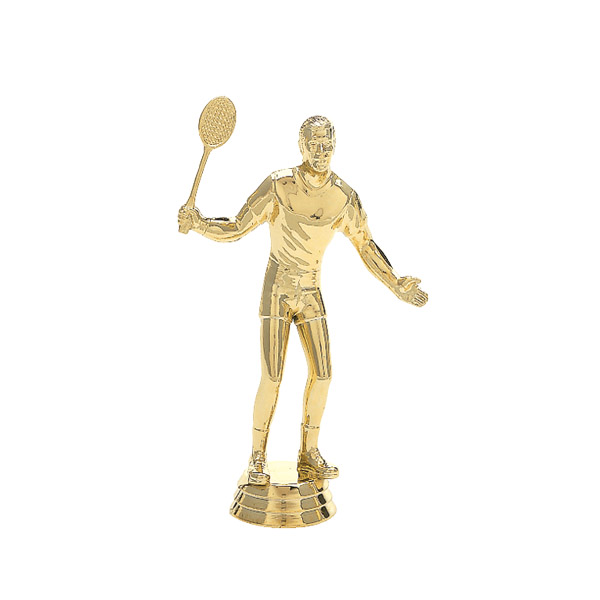 Male Badminton Gold Trophy Figure