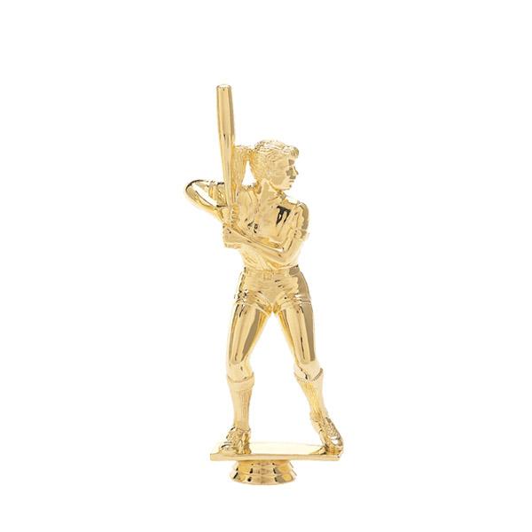 Female Softball Batter Gold Trophy Figure