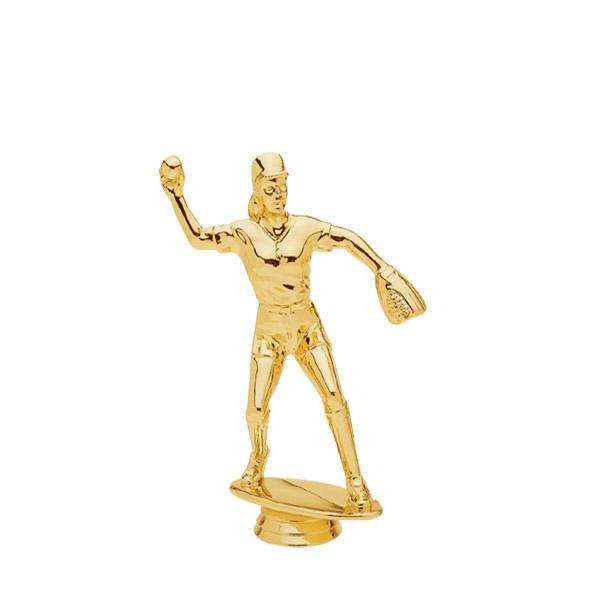Female Softball Fielder Gold Trophy Figure