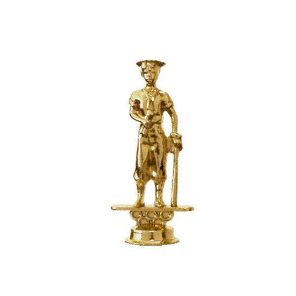 Male Baseball Graduate Gold Trophy Figure