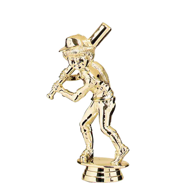 Female Baseball Tyke Gold Trophy Figure