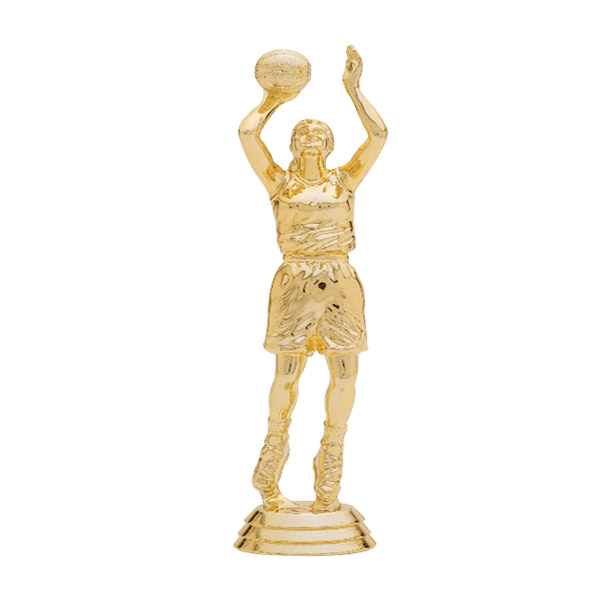 Female Basketball Center Gold Trophy Figure