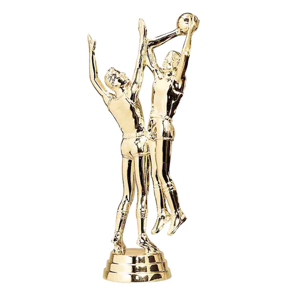 Male Double Action Basketball Gold Trophy Figure