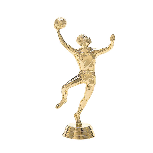 Male Basketball Hookshot Gold Trophy Figure
