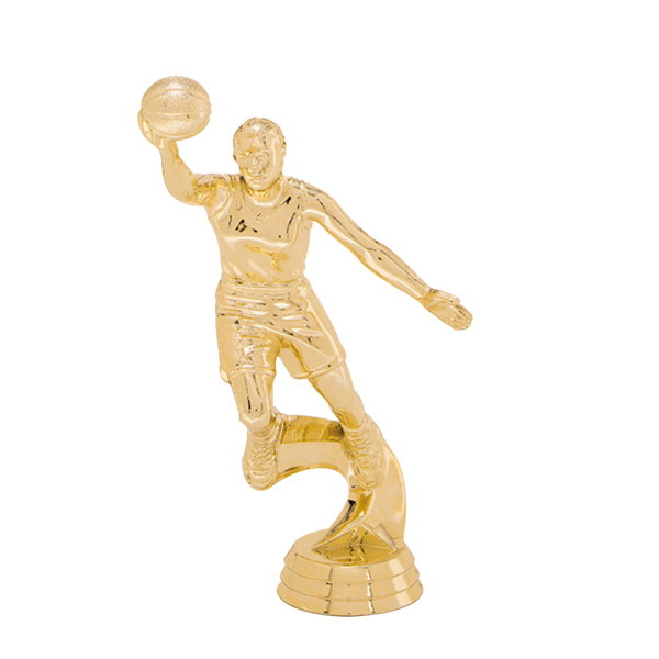 Female Basketball Slam Dunk Gold Trophy Figure