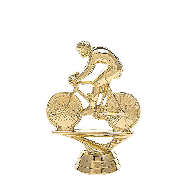 Male Bicycle w/ Rider Gold Trophy Figure