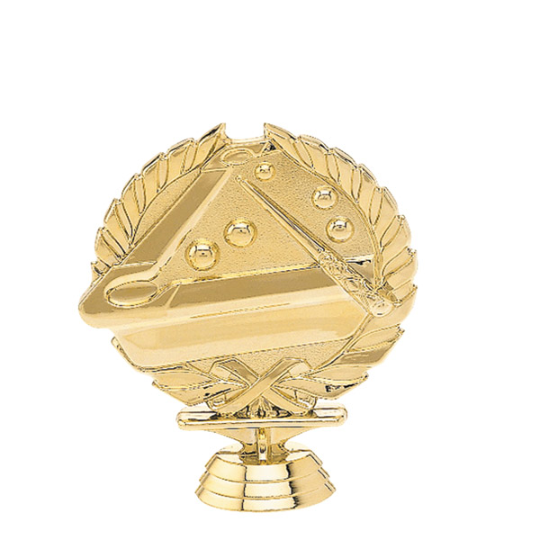 3d Billiards Gold Trophy Figure