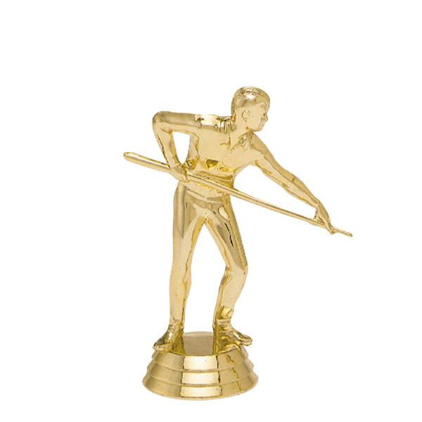 Male Billiard Player Gold Trophy Figure