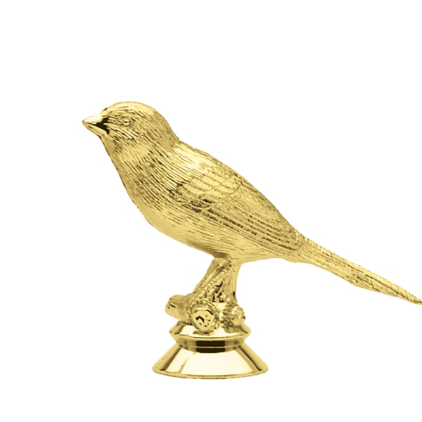 Canary Bird Gold Trophy Figure