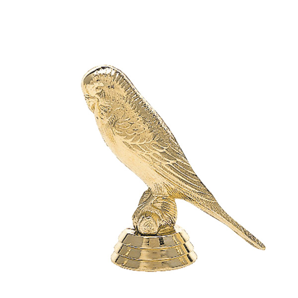 Parakeet Bird Gold Trophy Figure