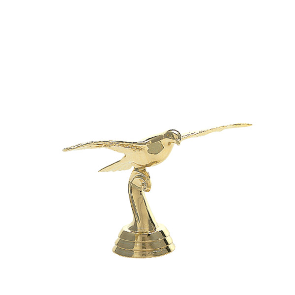 Pigeon in Flight Gold Trophy Figure