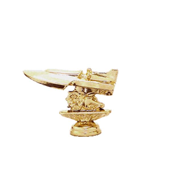 Inboard Hydroplane Boat Gold Trophy Figure