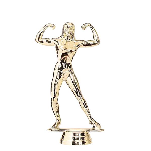 Female Body Builder Gold Trophy Figure