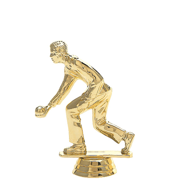 Male Bocce/Lawn Bowler Gold Trophy Figure