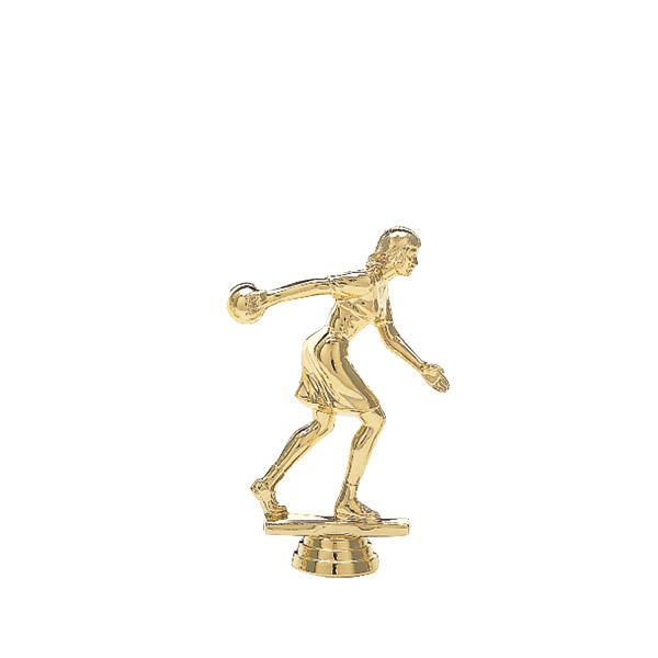 Female Ten Pin Bowler Gold Trophy Figure