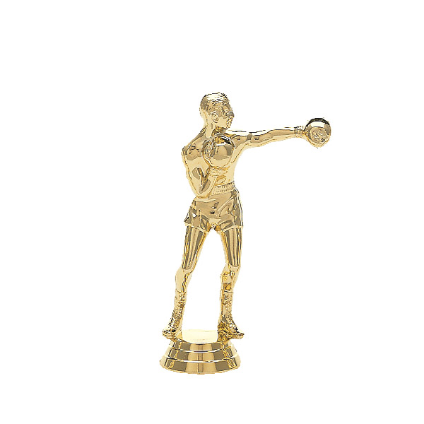 Male Boxer Gold Trophy Figure