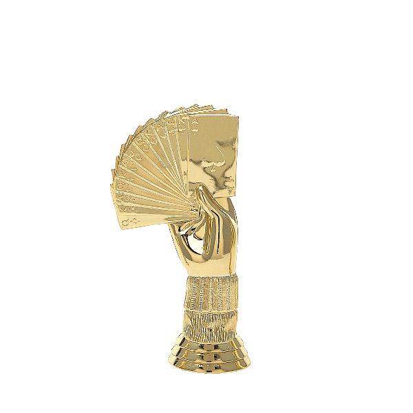 Bridge Hand Gold Trophy Figure