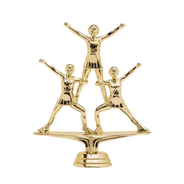 Triple Cheerleader Gold Trophy Figure
