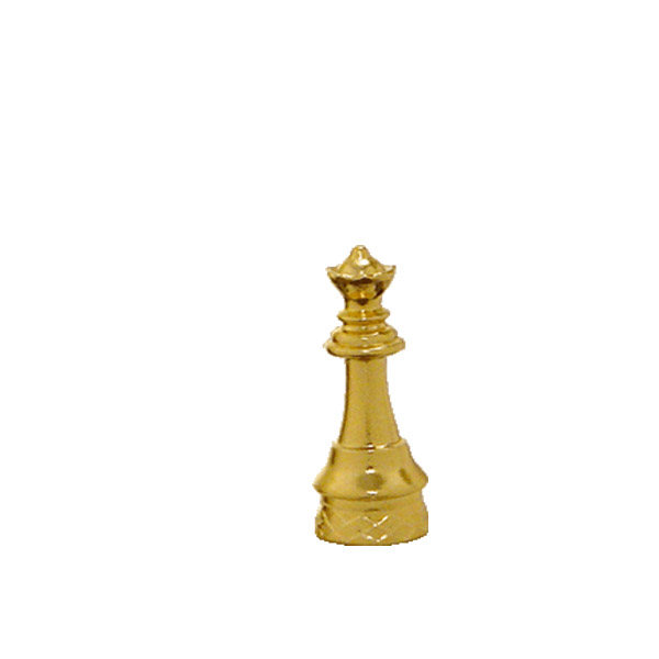 Chess Queen Gold Trophy Figure