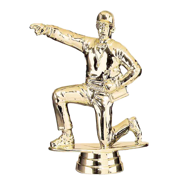 Male Kneeling Coach Gold Trophy Figure