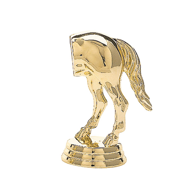 Comic Horse's Rear gold trophy figure